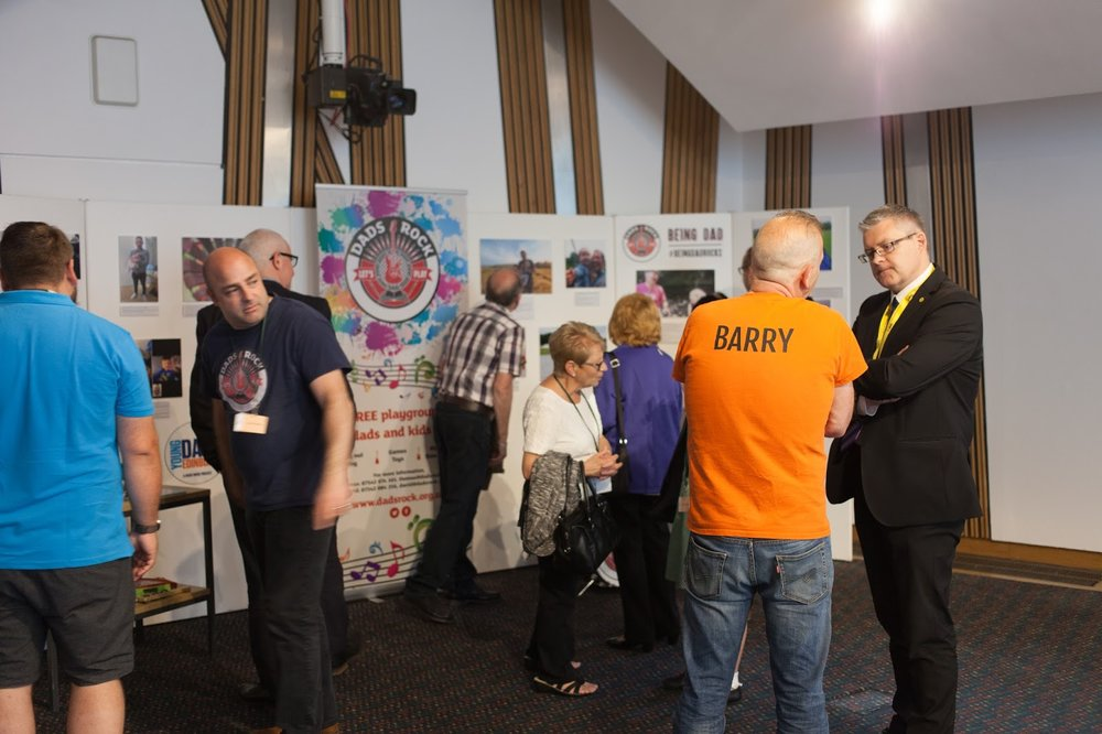 Our Barry talking to Stuart McMillan MSP