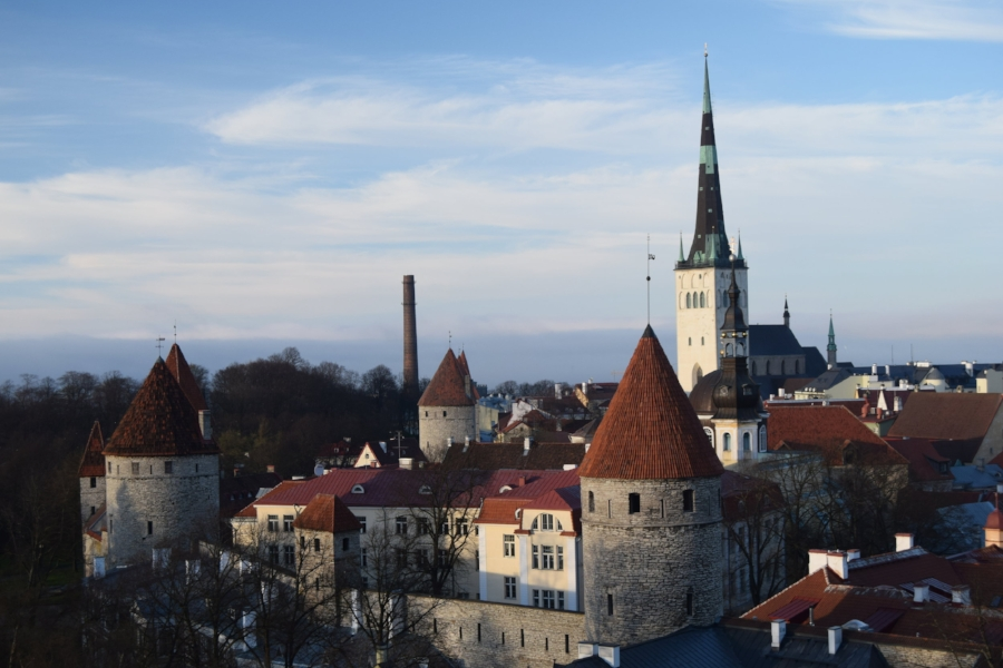Fortress towers in the old town of Tallinn