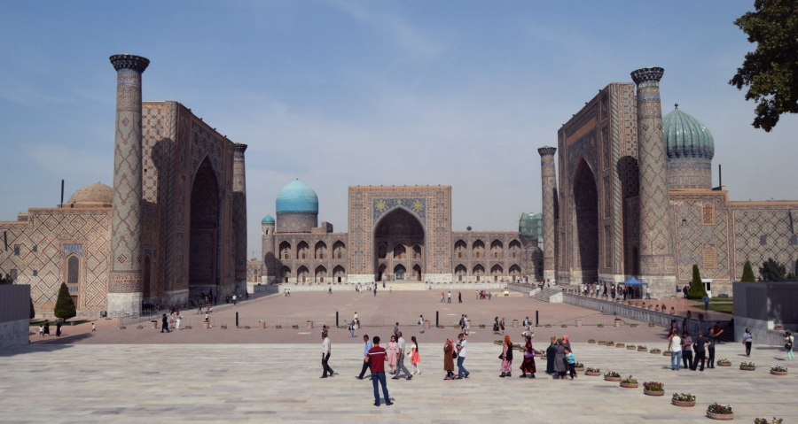 The Registan Square in Samarqand, Uzbekistan