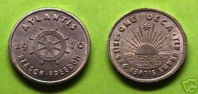 Minted Atlantean coins