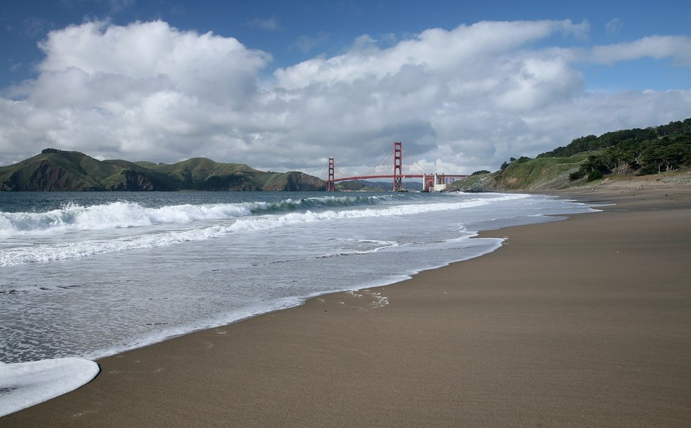 Baker Beach in 2009. Few if any photographs of the first Burning Man events survived.