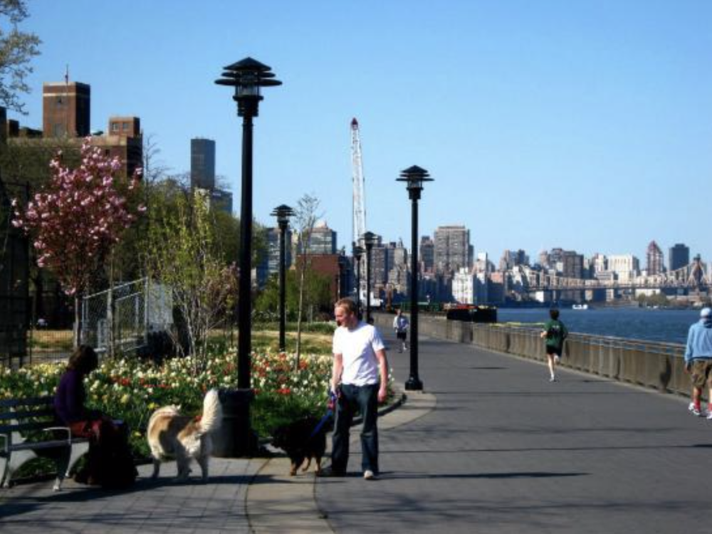 East River Park Promenade, Manhattan, NY