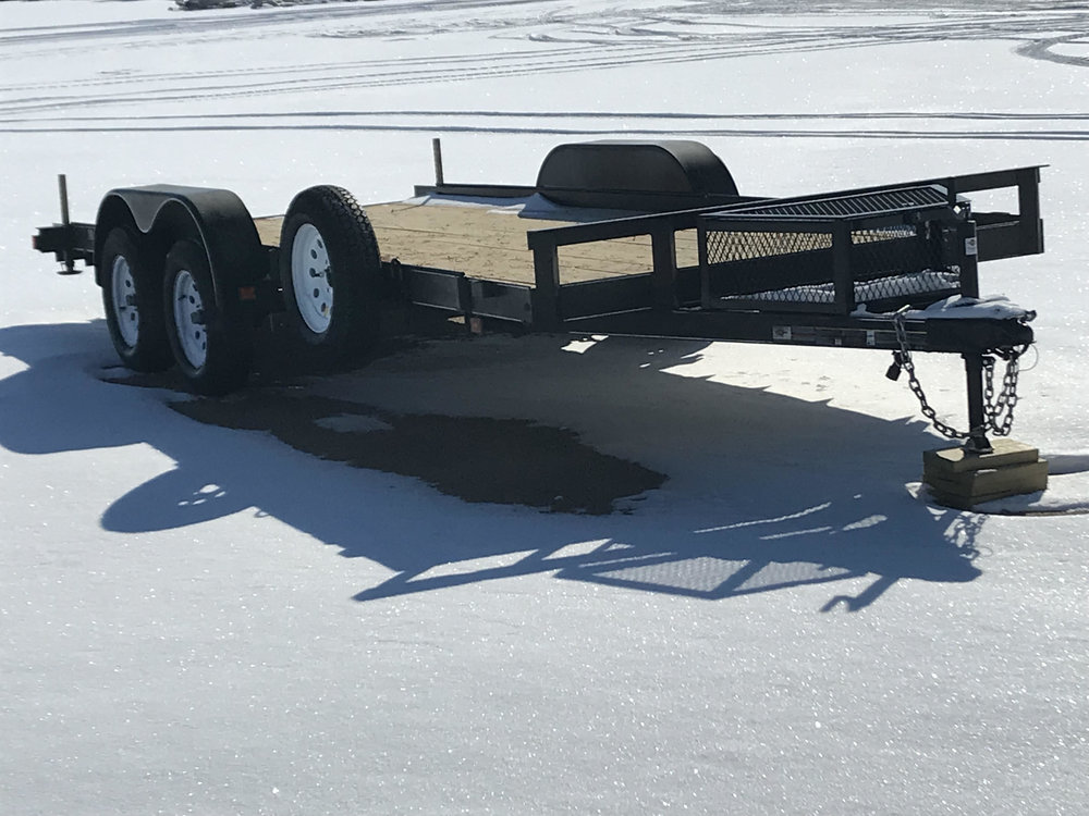 Daily Rental - $45   - Utility Trailer7 X 18
