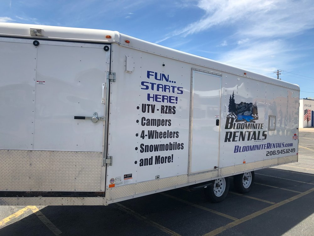 Enclosed Trailer - 27' Enclosed Snowmobile TrailerDaily Rate 8 Hr. - $75*Rental rate does not include required damage deposit.