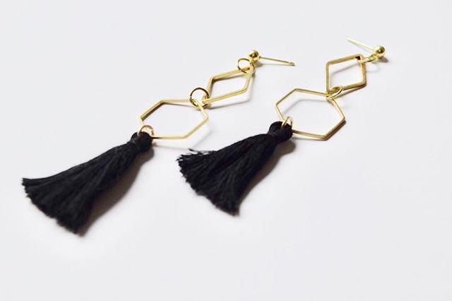 Those black tassels, tho.  #handmade #etsy thefaintofheart.etsy.com