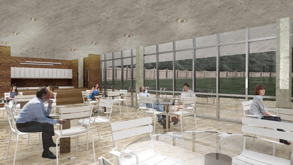 Cafeteria / Outdoor Space   U0026nbsp; Pratt Institute Dormitories   Gabriela  Fiorentino