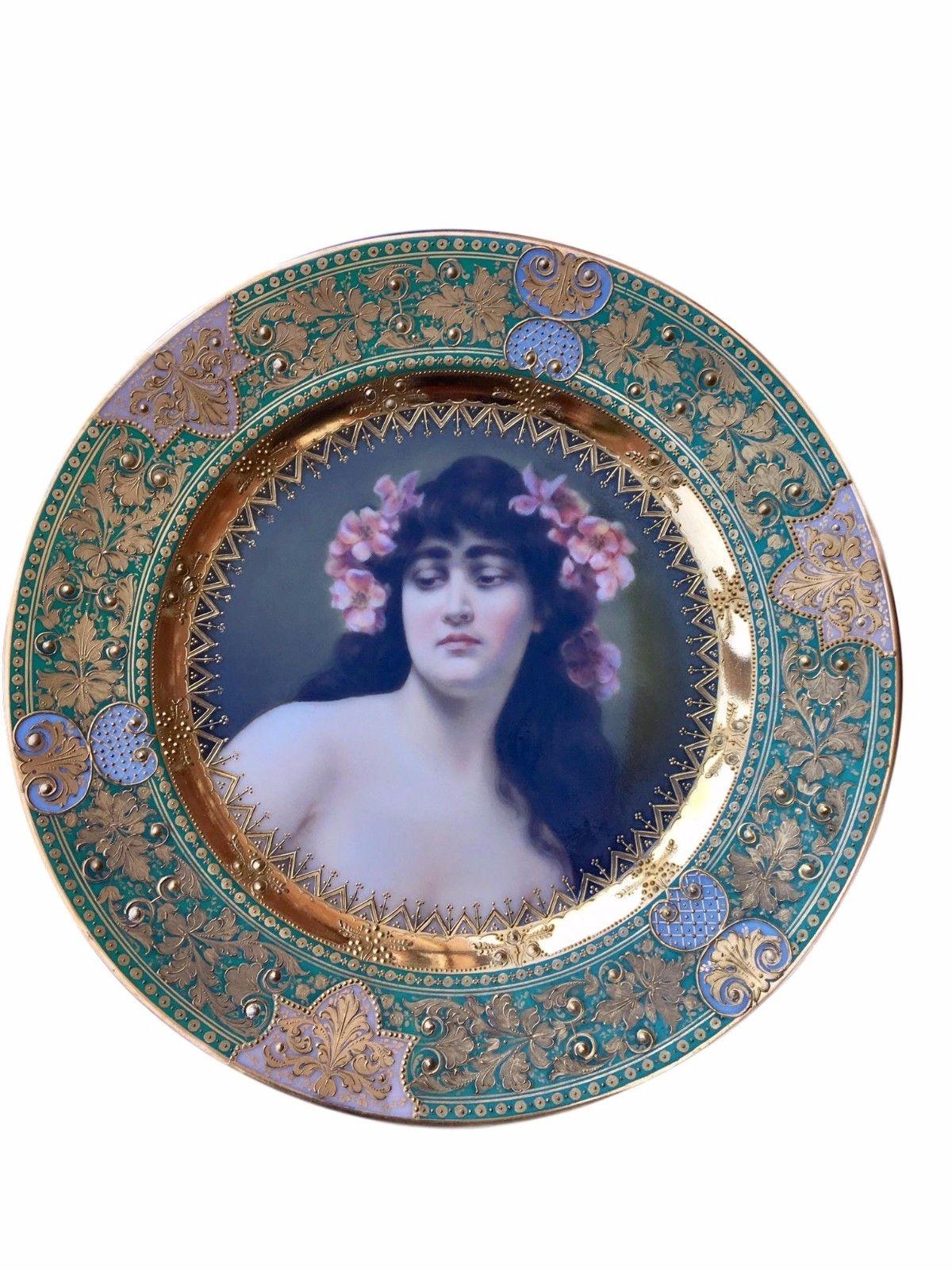 Antique Royal Vienna Porcelain Hand Painted Portrait Plate ...  sc 1 st  Antiqi & Porcelain Plates u2014 Your Site Title