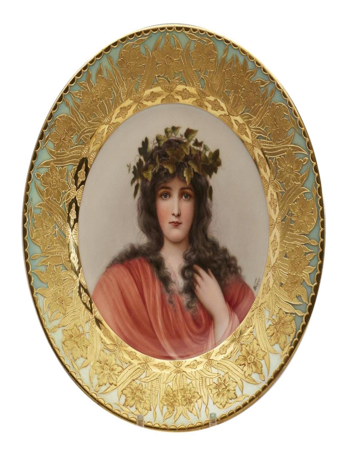 Antique Royal Vienna Porcelain Hand Painted Portrait Plate Signed Wagner ...  sc 1 st  Antiqi & Porcelain Plates u2014 Your Site Title