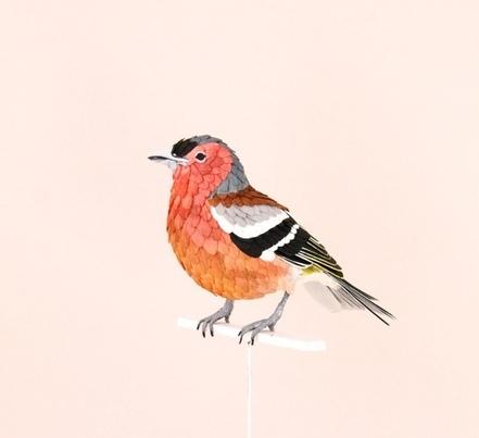 Papír madár szobrok:  Diana Beltran Herrera