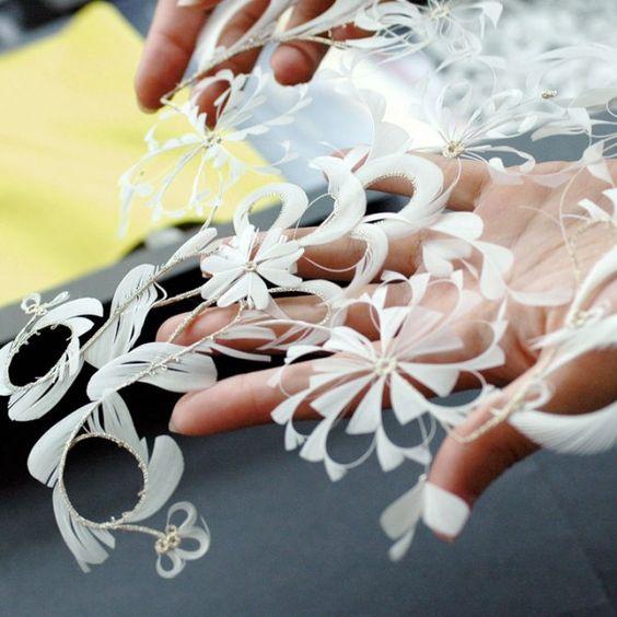 A türelem tollból csipkét terem... Janaïna Milheiro  csodálatos textil műalkotásai