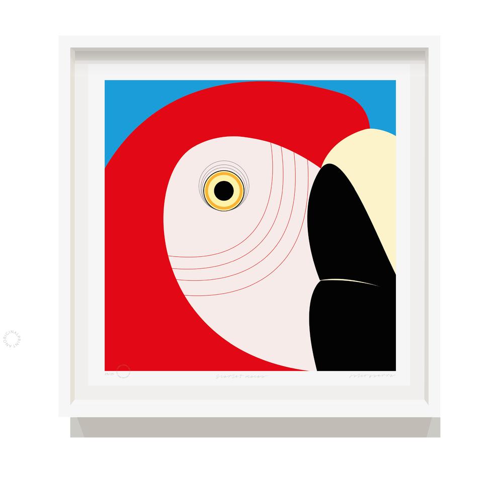 70 x 70 cm framed print