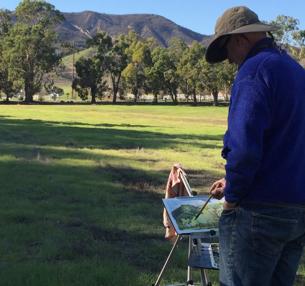 Plein Aire at King Gillette Ranch in the Santa Monica Mountains