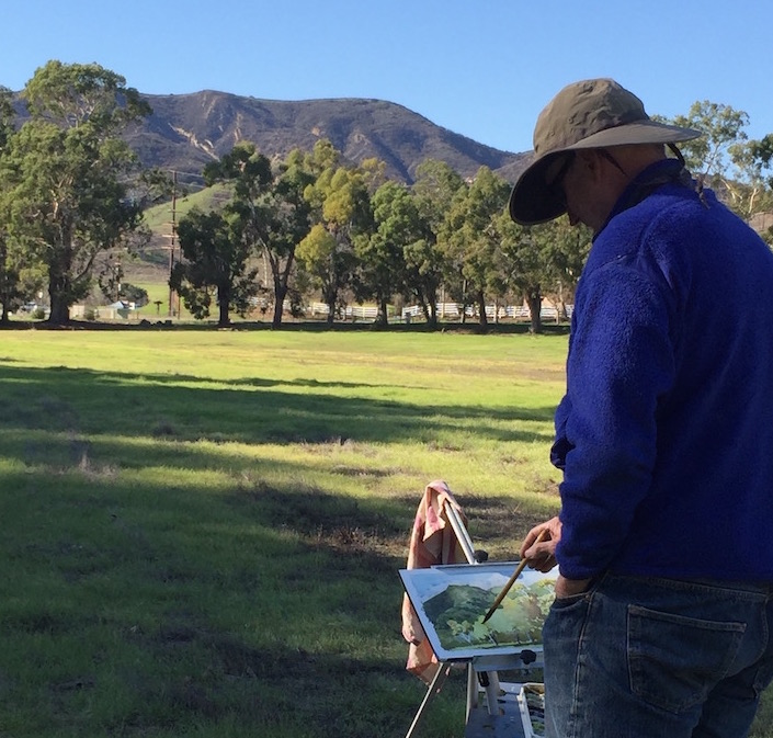 Painting at King Gillette Ranch in the Santa Monica Mountains