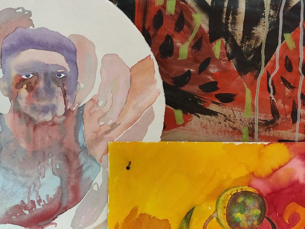 Haitham Haddad exhibition Manjm
