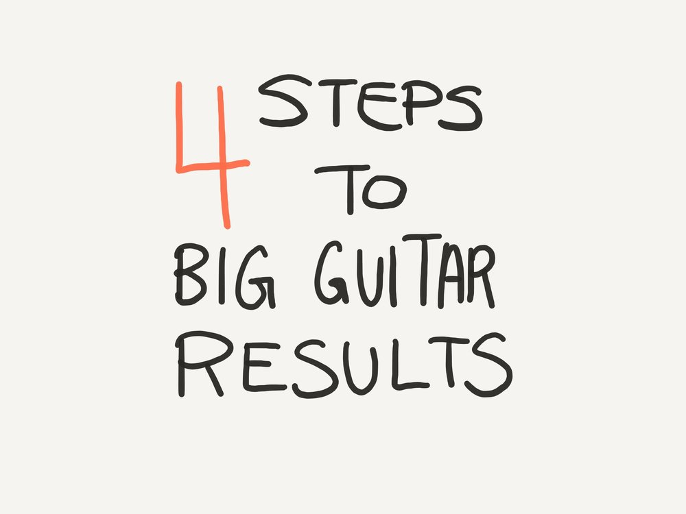 4 steps to big guitar results
