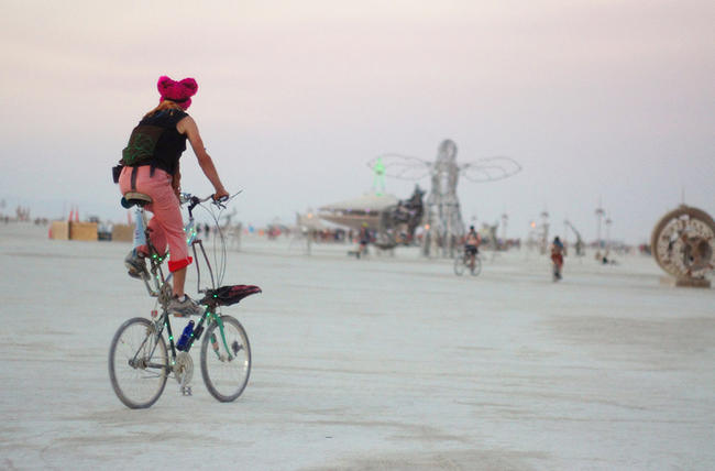 Bicycling Magazine - Abandoned at Burning Man, Hundreds - Maybe Thousands- of bikes to go to Hurricane Victims