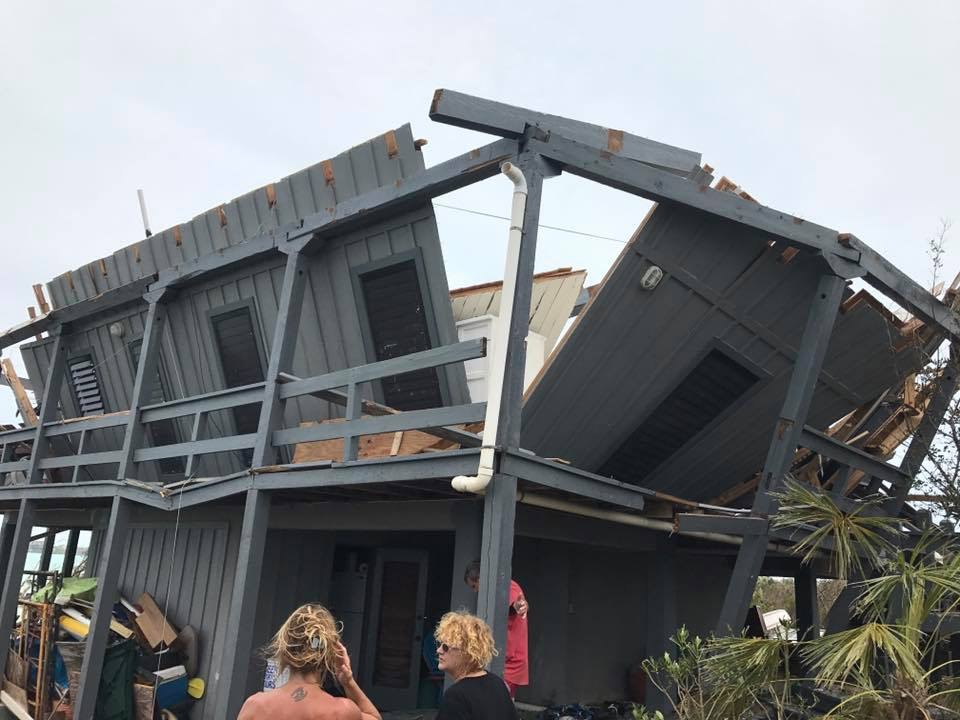 My friend's home post Hurricane Irma.