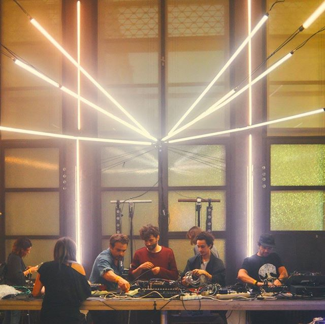 The NordPath crew having their first label night (or last supper?) at Ephemeron, Brno (CZ). The sound engineer and VJ team did a fantastic job! The line-up: Junction To Humanity, Leave Things and V4NT4BL4CK, Kalos, and Clarence Rise.  #labelnight #bandpic #club #electronicmusic #modularsynth #analogsynth #electronica #brno #ephemeron #fleda