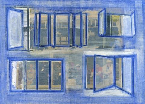 Liesbeth Doornbos: Zonder titel, 2008, diverse technieken, 29,7 x 44 cm, De Groen Fine Art Collection.