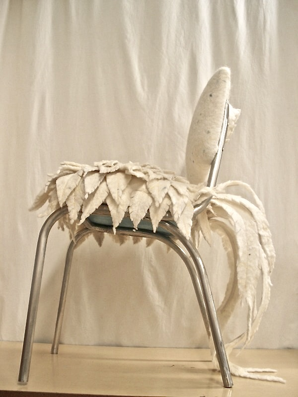 feathered chair