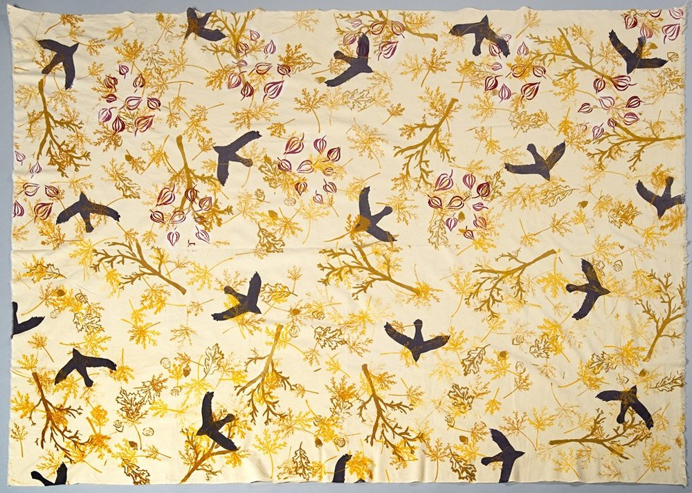 autumn crows yardage