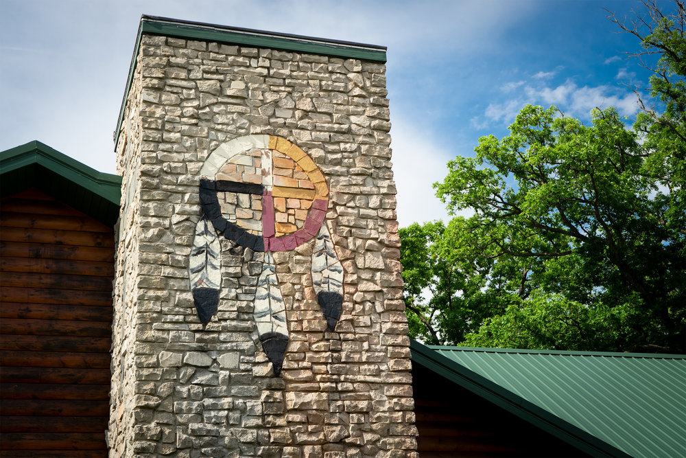 The Dayspring Medicine Wheel painted on the exterior of the Church.