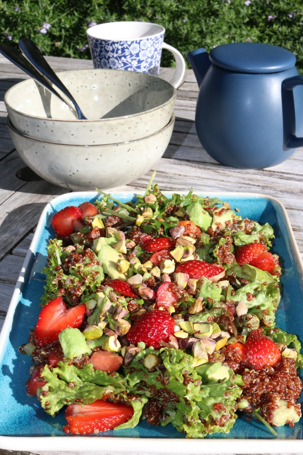 Strawberry, Pistachio and Quinoa Salad  Contribution from Rachel Knight