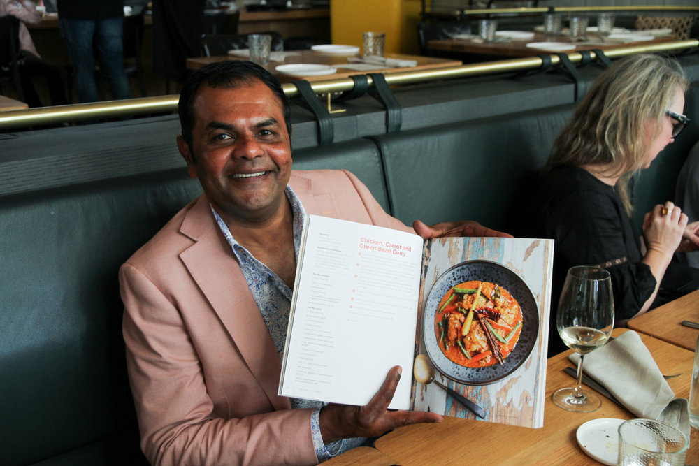 Kit Perera with his Monkfish Curry recipe