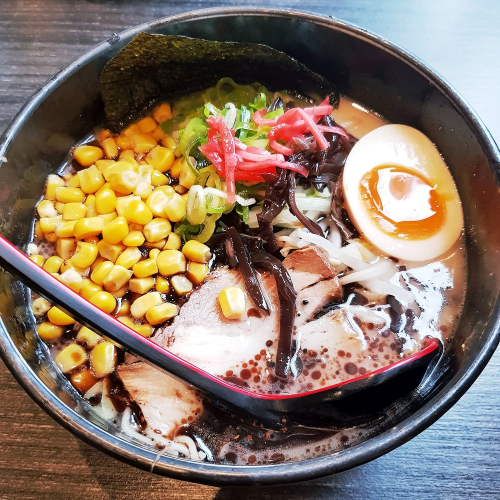 Tonkotsu Ramen Black Garlic Noodle Soup Hinoki Rotterdam Netherlands Holland