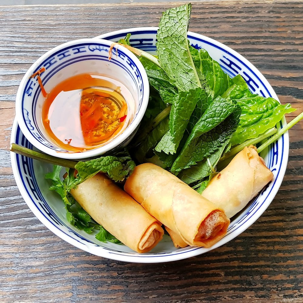 Little V Restaurant Rotterdam Netherlands Spring Rolls with Nuoc Cham