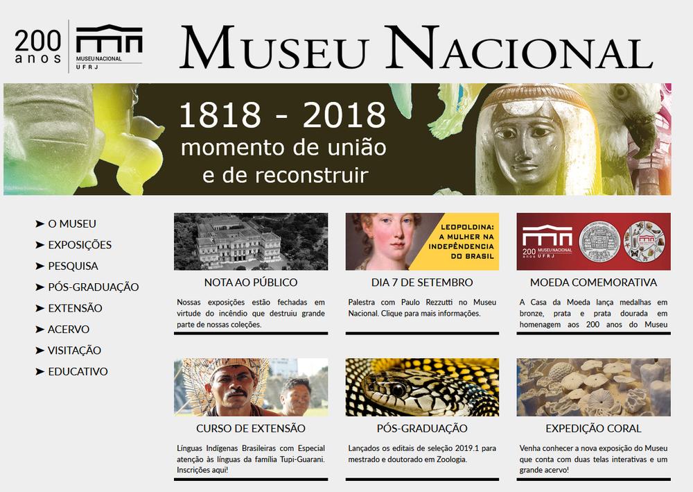 Museu Nacional Rio Brazil Museum Fire