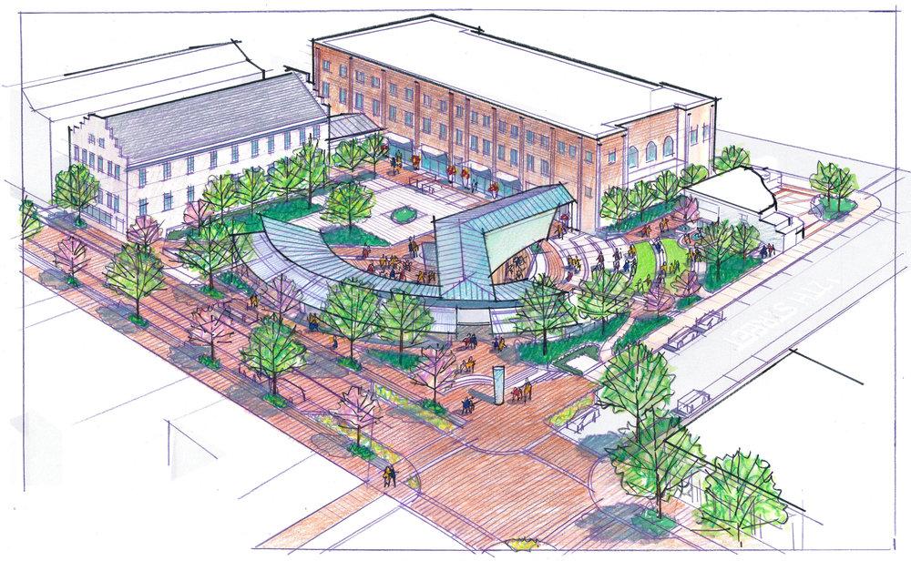 Lynchburg Downtown 2040 Plan - Amphitheater - Community Planning by Hill Studio