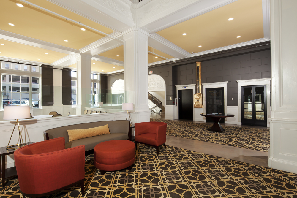 The Patrick Henry Hotel, Lobby - Historic Tax Credit Applications by Hill studio