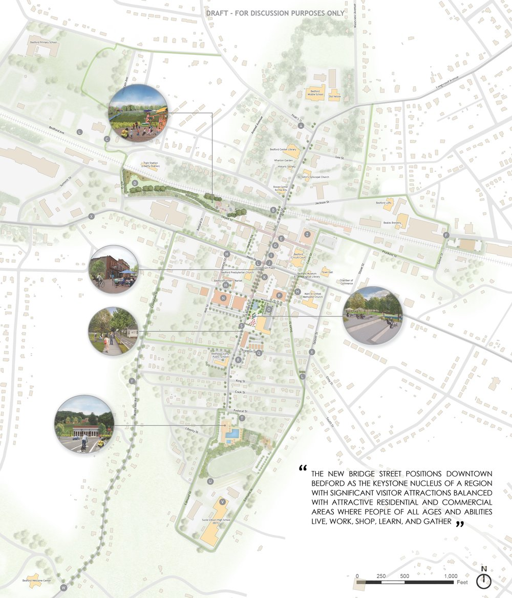 Bedford Downtown - Illustrative Master Plan by Hill Studio