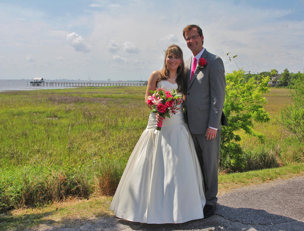 Amber + Andrew: Intimate Elopement in Mount Pleasant's Old Village | Palmetto State Weddings