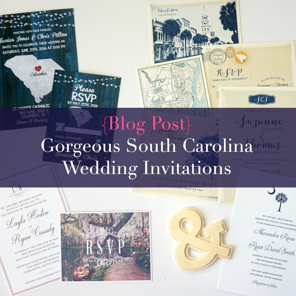 Blog Post: South Carolina Wedding Invitations |  PalmettoStateWeddings.com