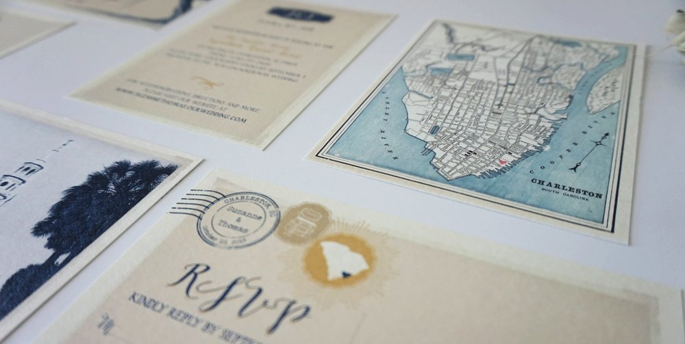 Hilton Head Island and Charleston Wedding Invitations | Palmetto State Weddings