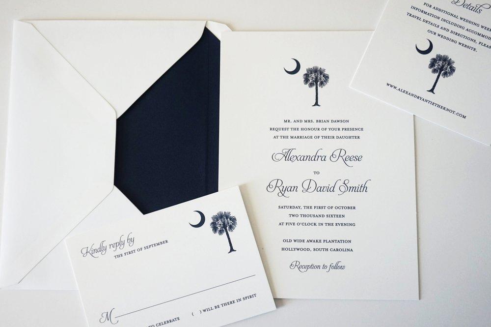 Wedding Invitations in Greenville SC, Spartanburg SC, and Anderson SC | Palmetto State Weddings