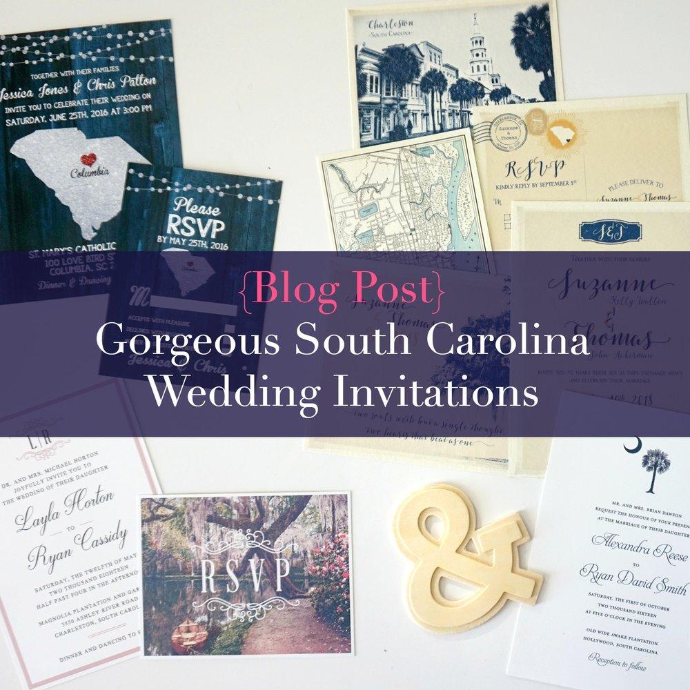 South Carolina Wedding Invitations | Palmetto State Weddings
