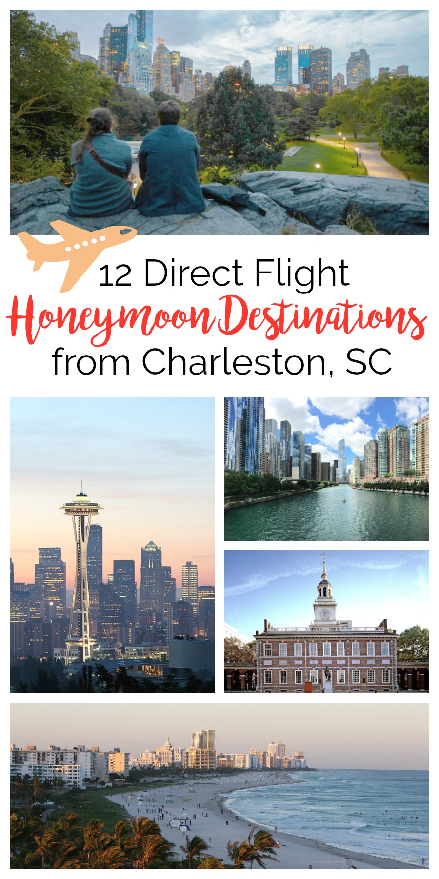 12 Direct Flight Honeymoon Destinations from Charleston, South Carolina | Palmetto State Weddings