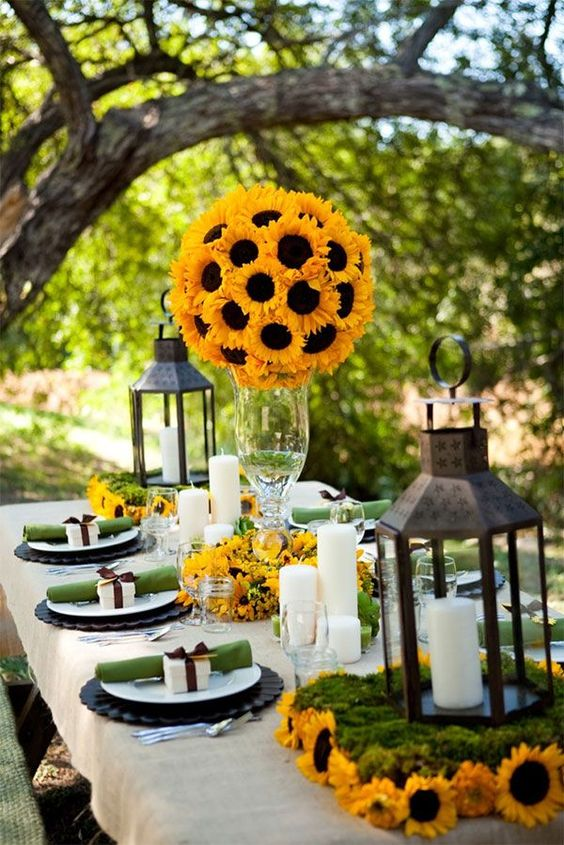 Sunflower Wedding Inspiration via Deer Pearl Flowers