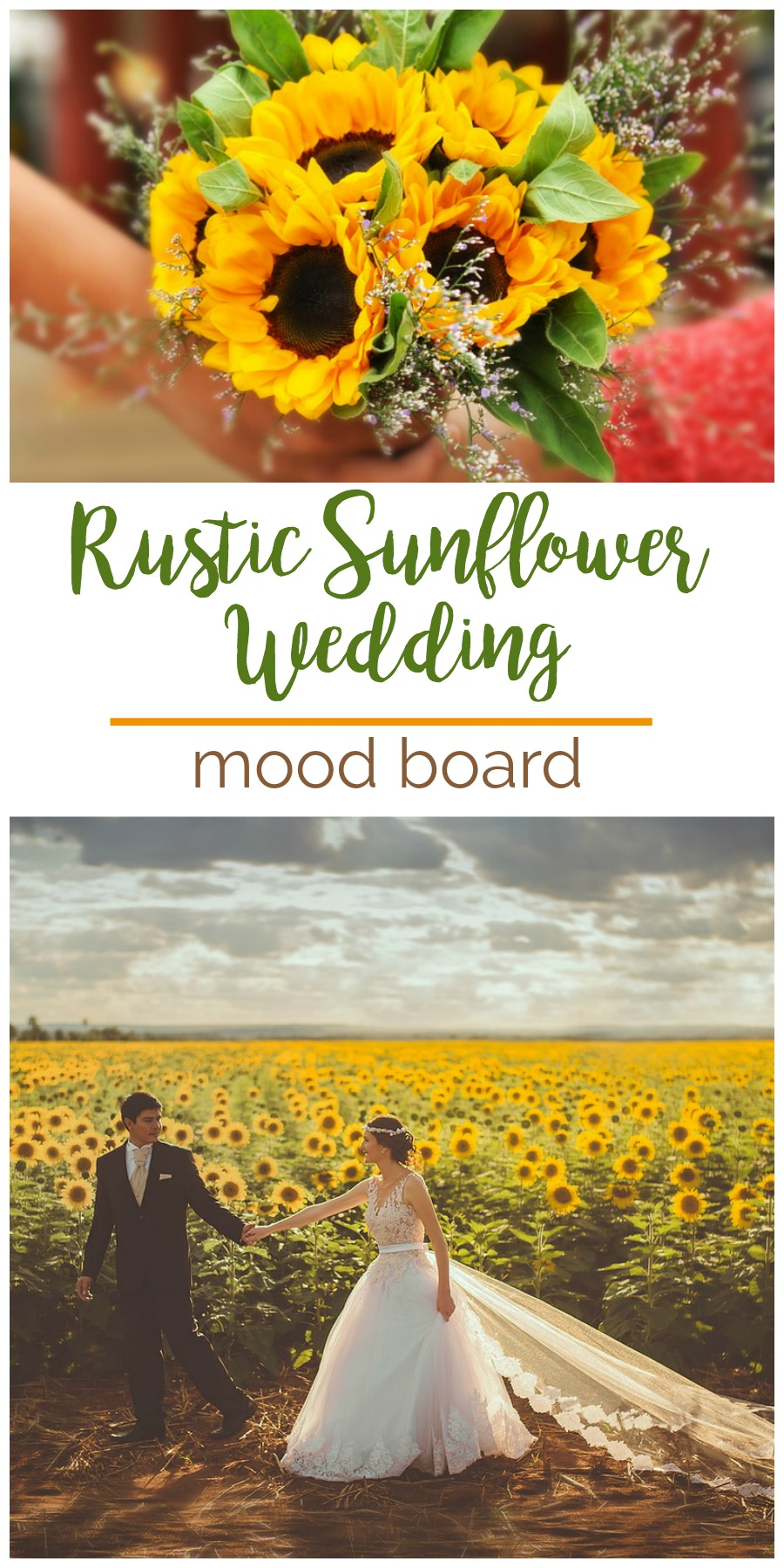 Mood Board: Rustic Sunflower Wedding | Palmetto State Weddings