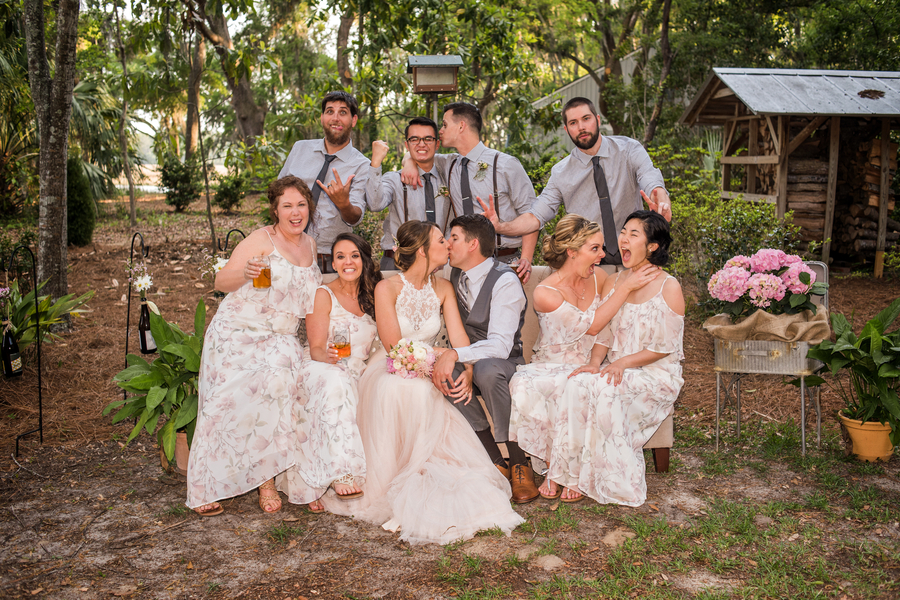 Nikki + Colin: A Lighthearted Backyard Wedding in Bluffton | Palmetto State Wedding