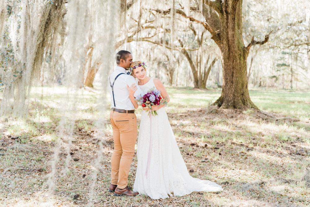 Wedding Inspiration: Boho Elopement Styled Shoot at Grove Plantation House | Palmetto State Weddings
