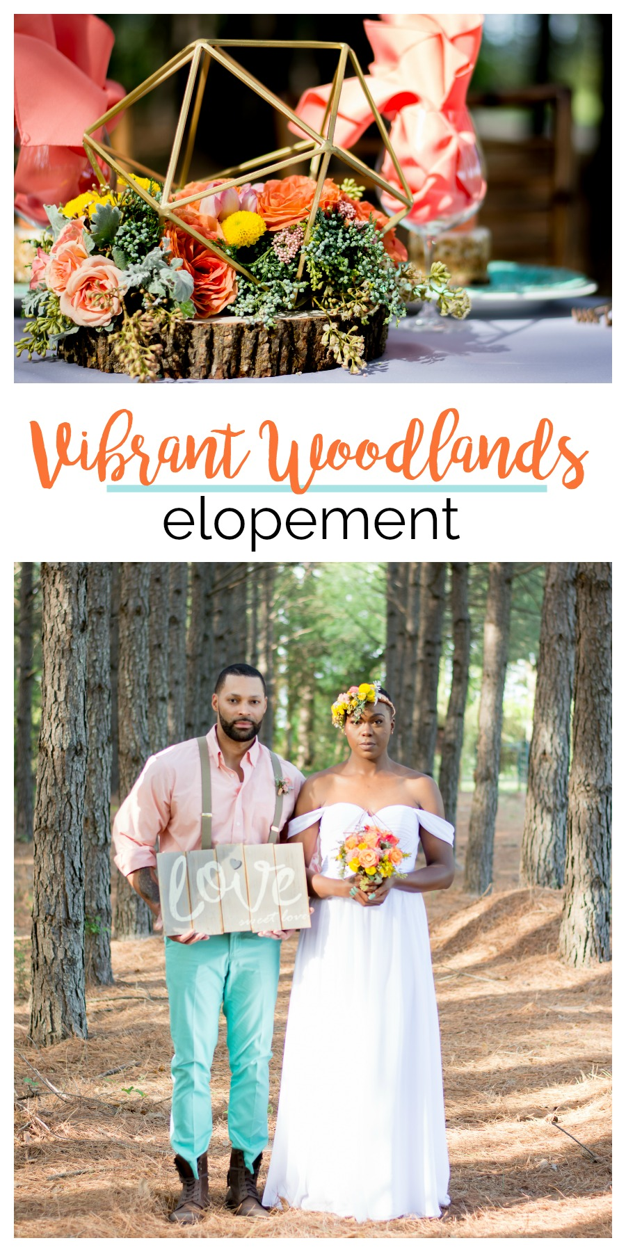 Wedding Inspiration: Vibrant Woodlands Elopement | Palmetto State Weddings | Photography by Denise Benson Photography | Rock Hill wedding