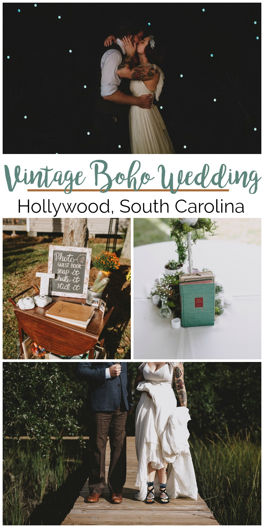 Amy + Nick: A Novel Wedding for Writers in Hollywood | Palmetto State Weddings | Photography by Josh Rigsby Photography | vintage boho wedding | alternative wedding ideas | feminist wedding inspiration | real weddings in Charleston | Charleston SC weddings