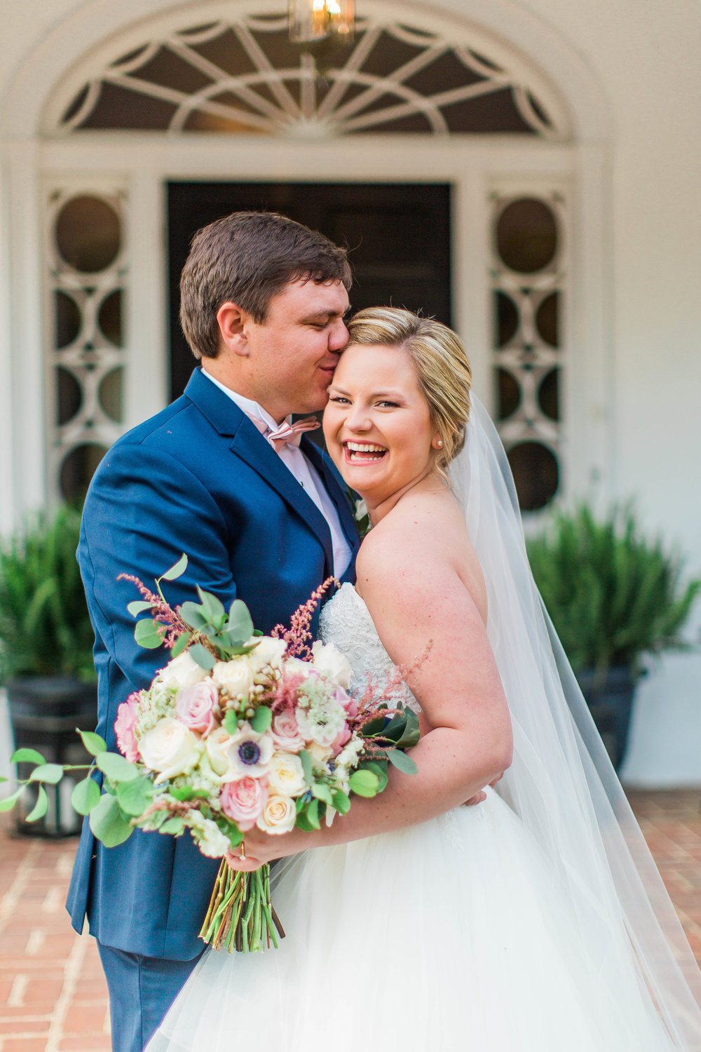 Wedding Inspiration: Pink and Blue Wedding Styled Shoot at Proctor Hall, Camden | Palmetto State Weddings