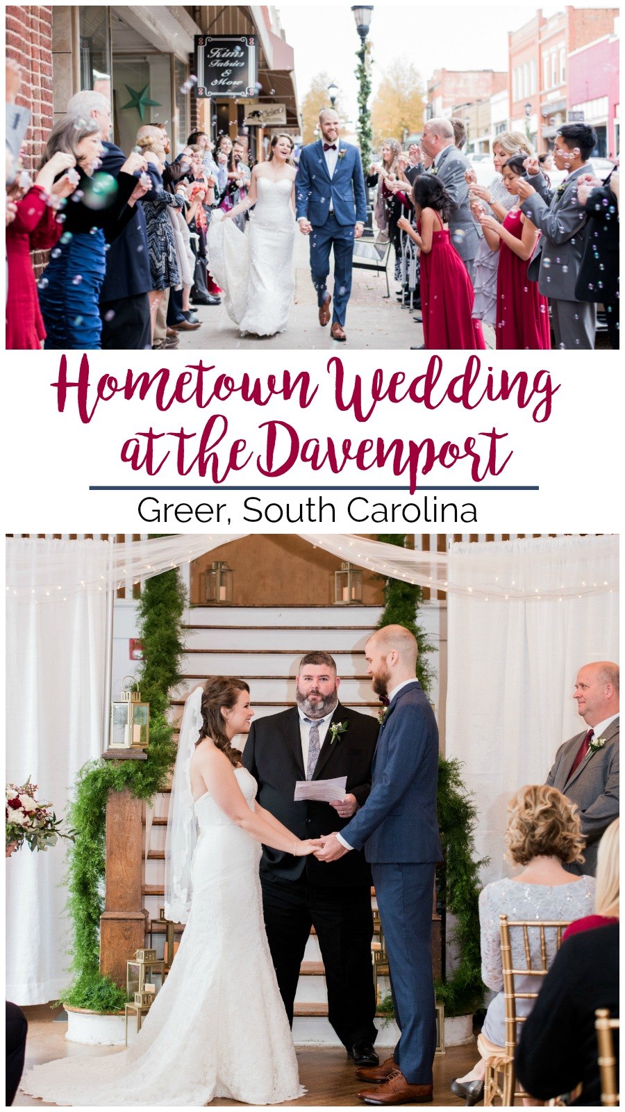 Kasey + Dillon: A Hometown Wedding at the Davenport, Greer, South Carolina | Palmetto State Weddings | Rebecca Hicks Photography