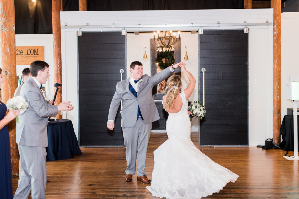 Jessica + Gavin: Modern Urban Wedding at the Loom at Cotton Mill Place | Palmetto State Weddings