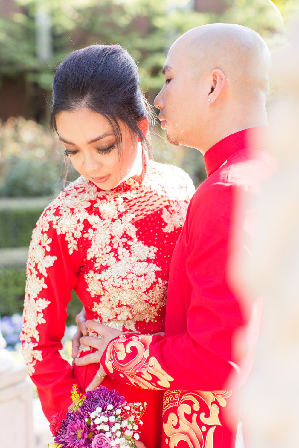 Linh and Andy: Traditional Vietnamese Wedding Portraits | Palmetto State Weddings